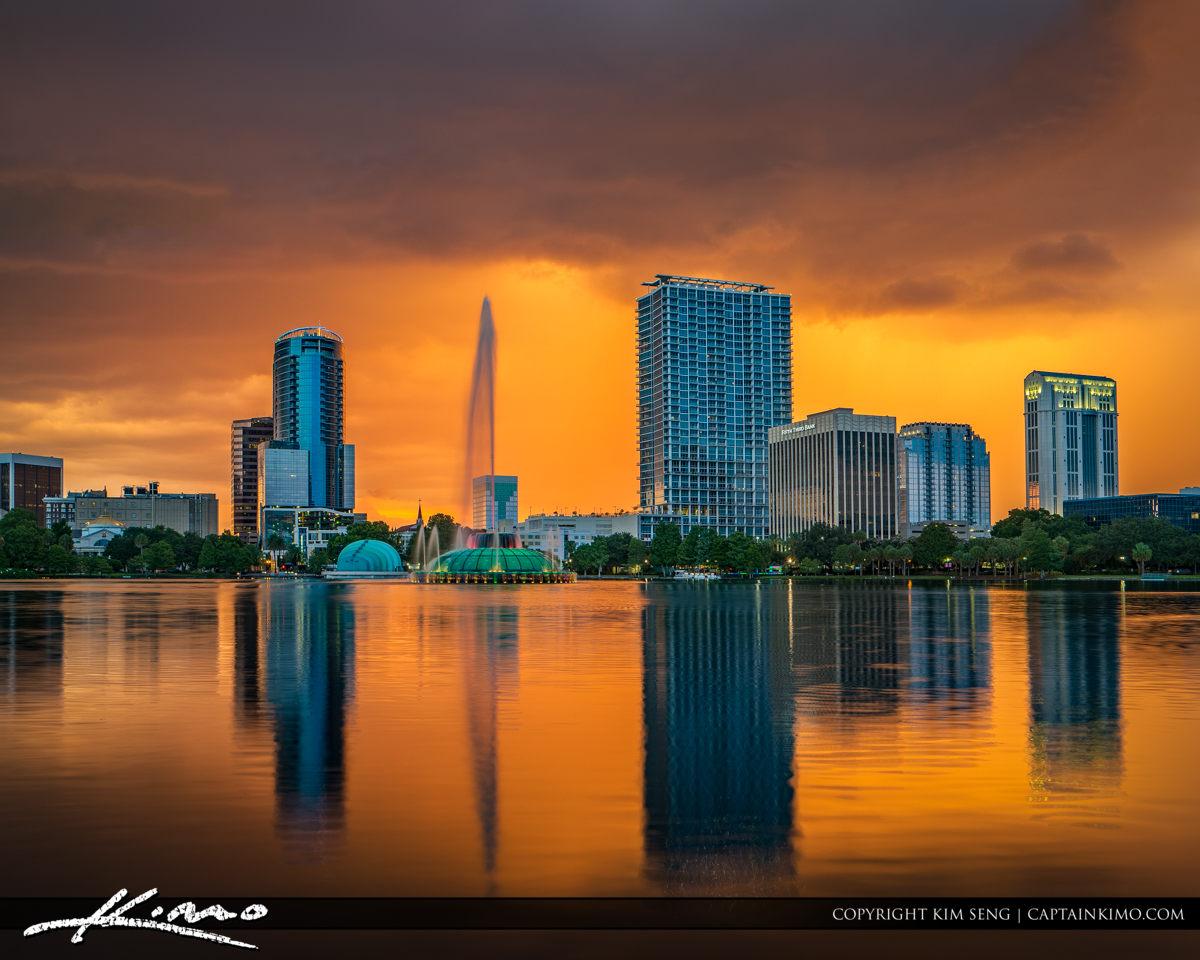 Lake Eola Fountain Orlando Florida