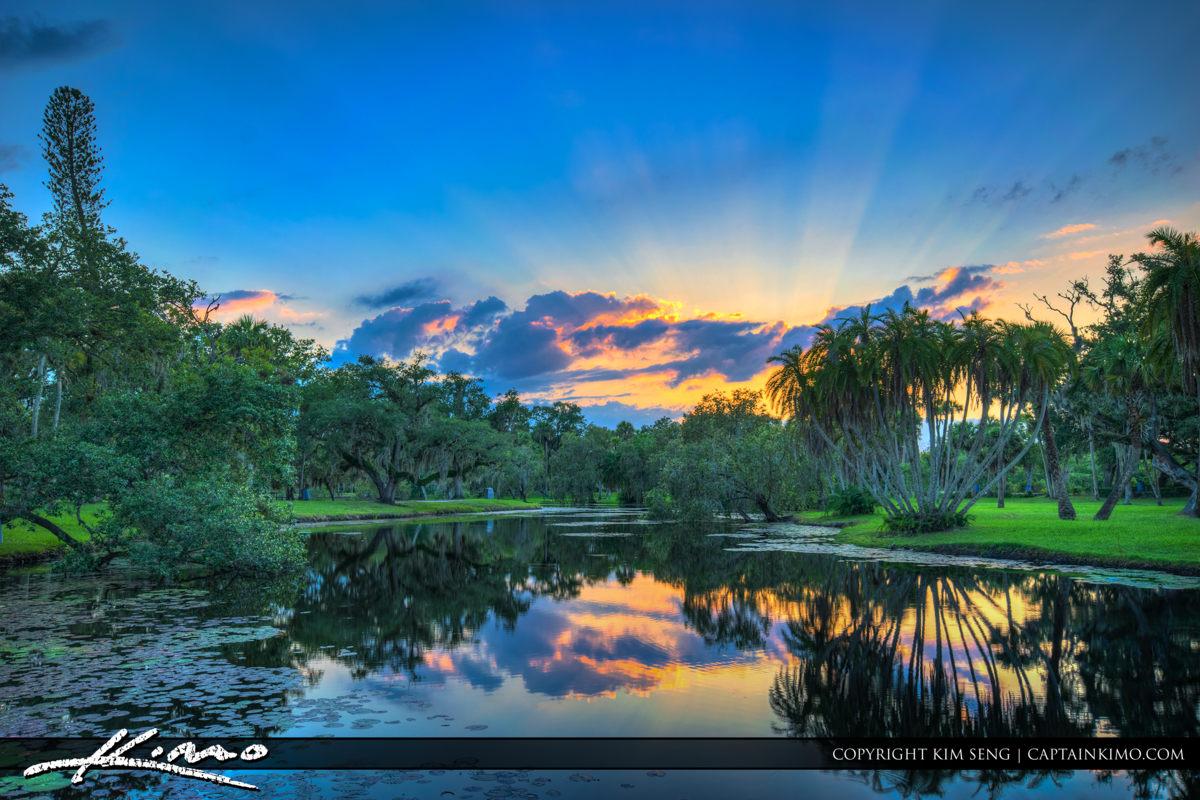 Fort Pierce White City Park Beautiful Pond