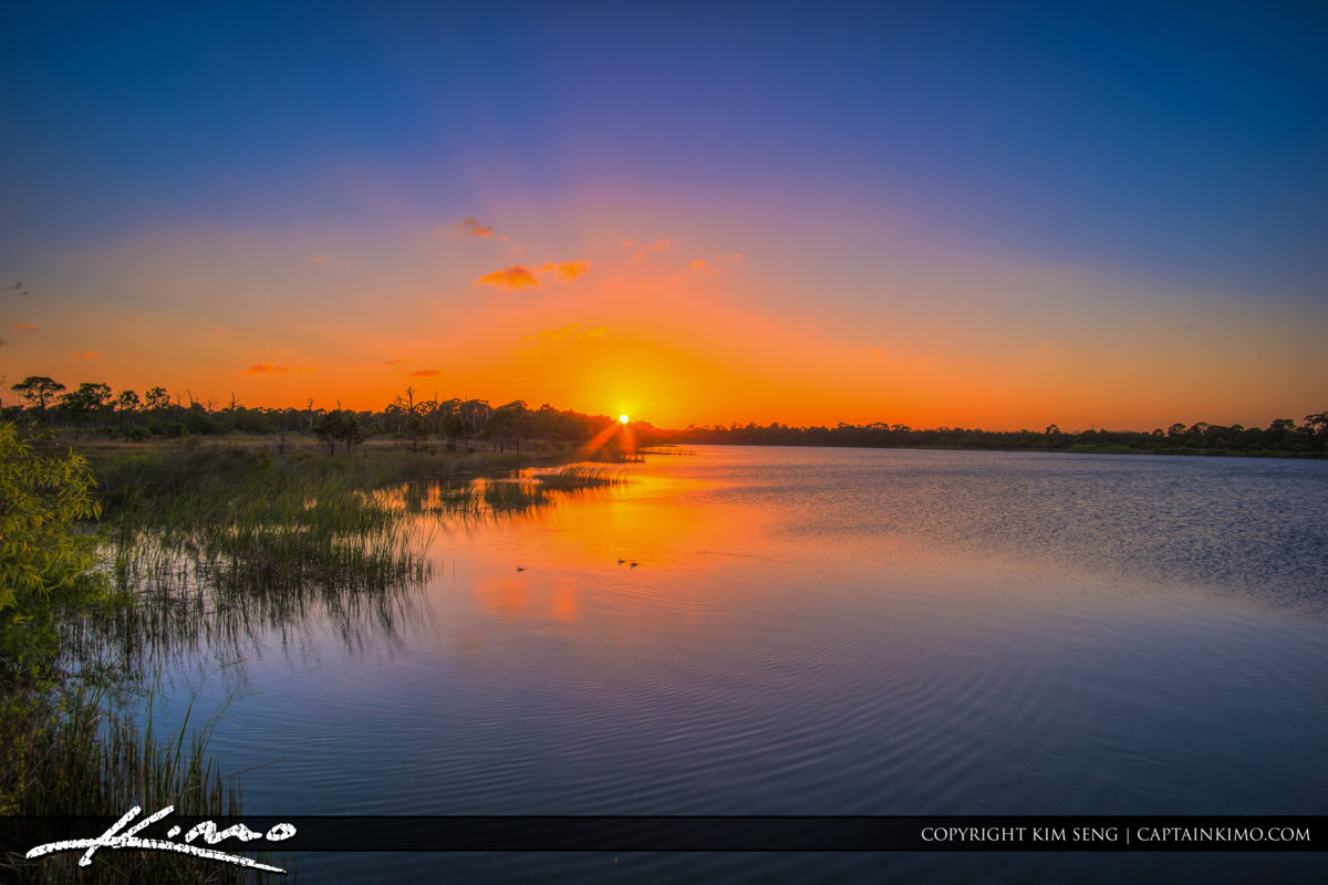Fort Pierce George LeStrange Preserve Lake Sunset