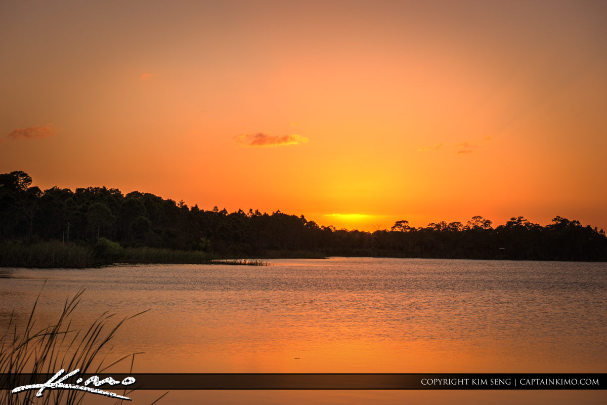 Fort Pierce George LeStrange Preserve Last Light at Sunset