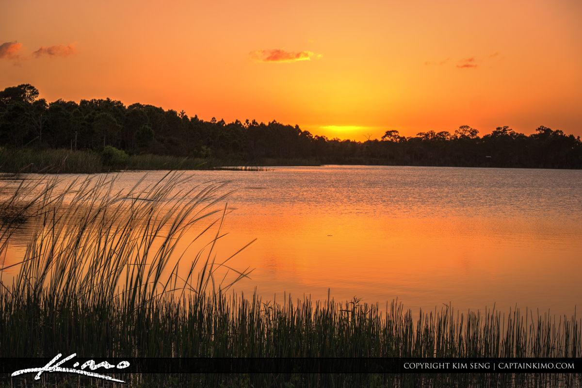 Fort Pierce George LeStrange Preserve Warm Glow After Sunset
