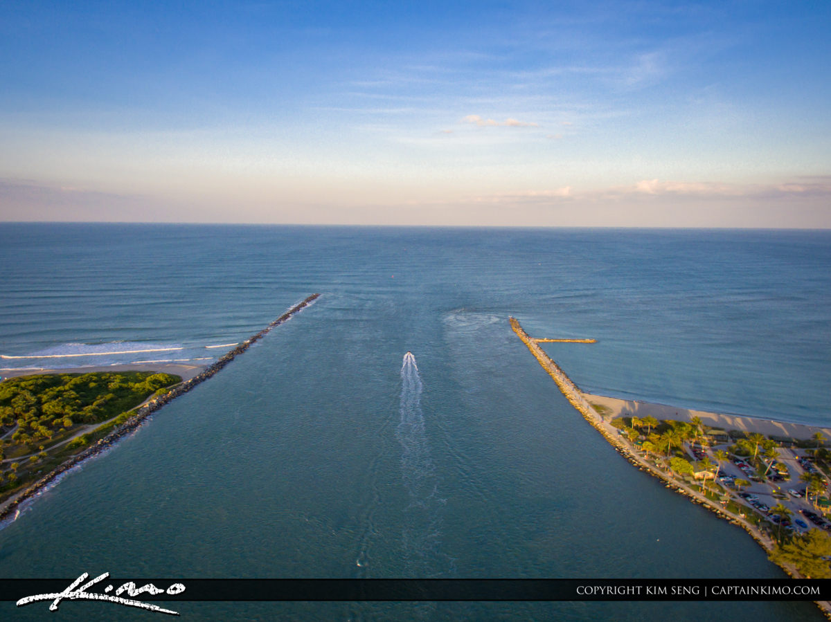 Fort Pierce Aerial Inlet Jetty