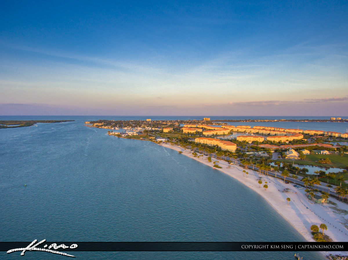Fort Pierce Aerial Inlet at Hutchinson Island