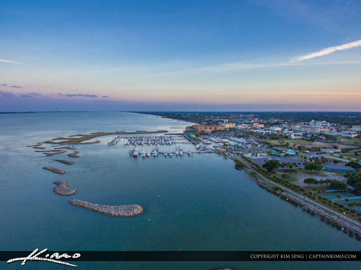 Fort Pierce Aerial Downtown at the Marina