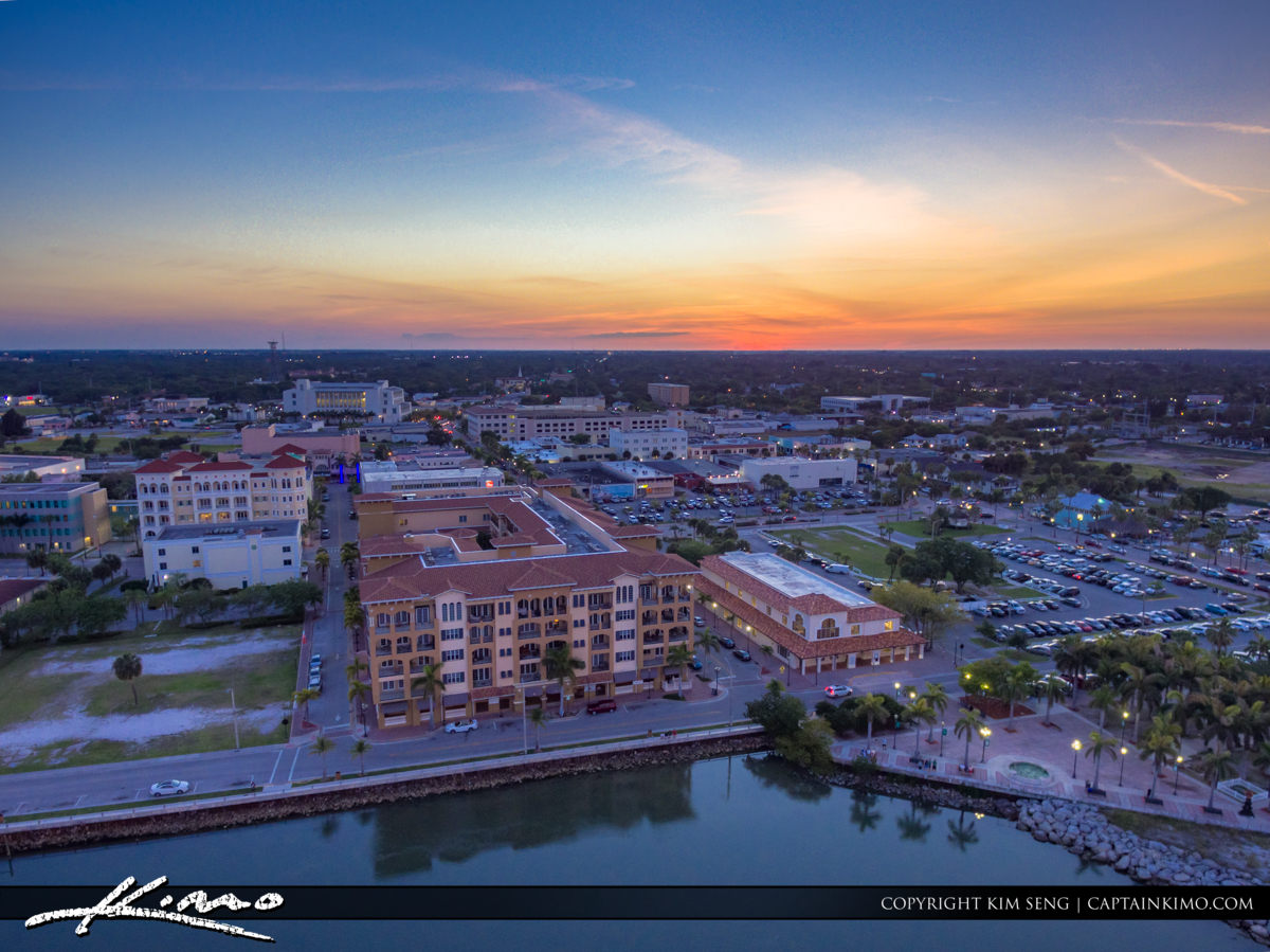 Fort Pierce Aerial Downtown Center