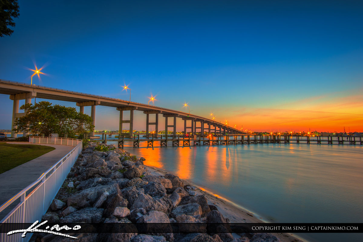 Fort Pierce South Causeway Park with the Bridge Over Indian Rive