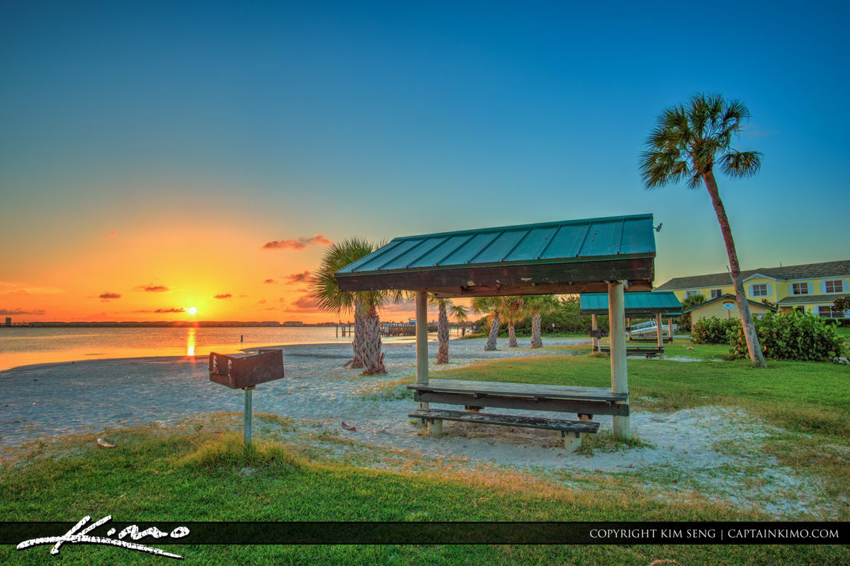 Fort Pierce Jaycee Park BBQ Sunset