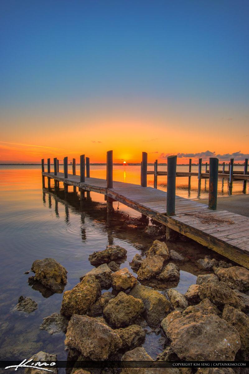 Fort Pierce Jaycee Park Sunset at Pier