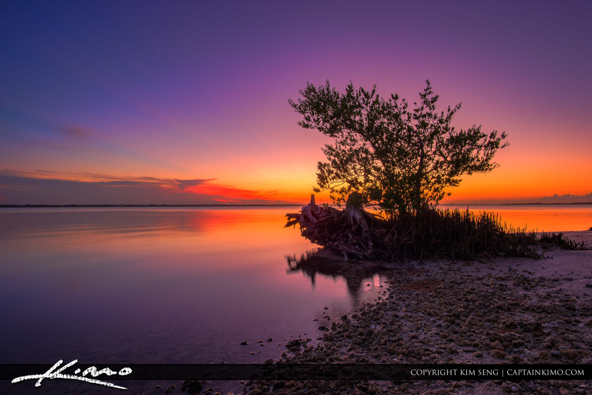 Fort Pierce Indian River Purple Sunset