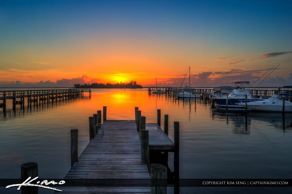 Sebastian Yacht Club Boat Ramp at Sunrise