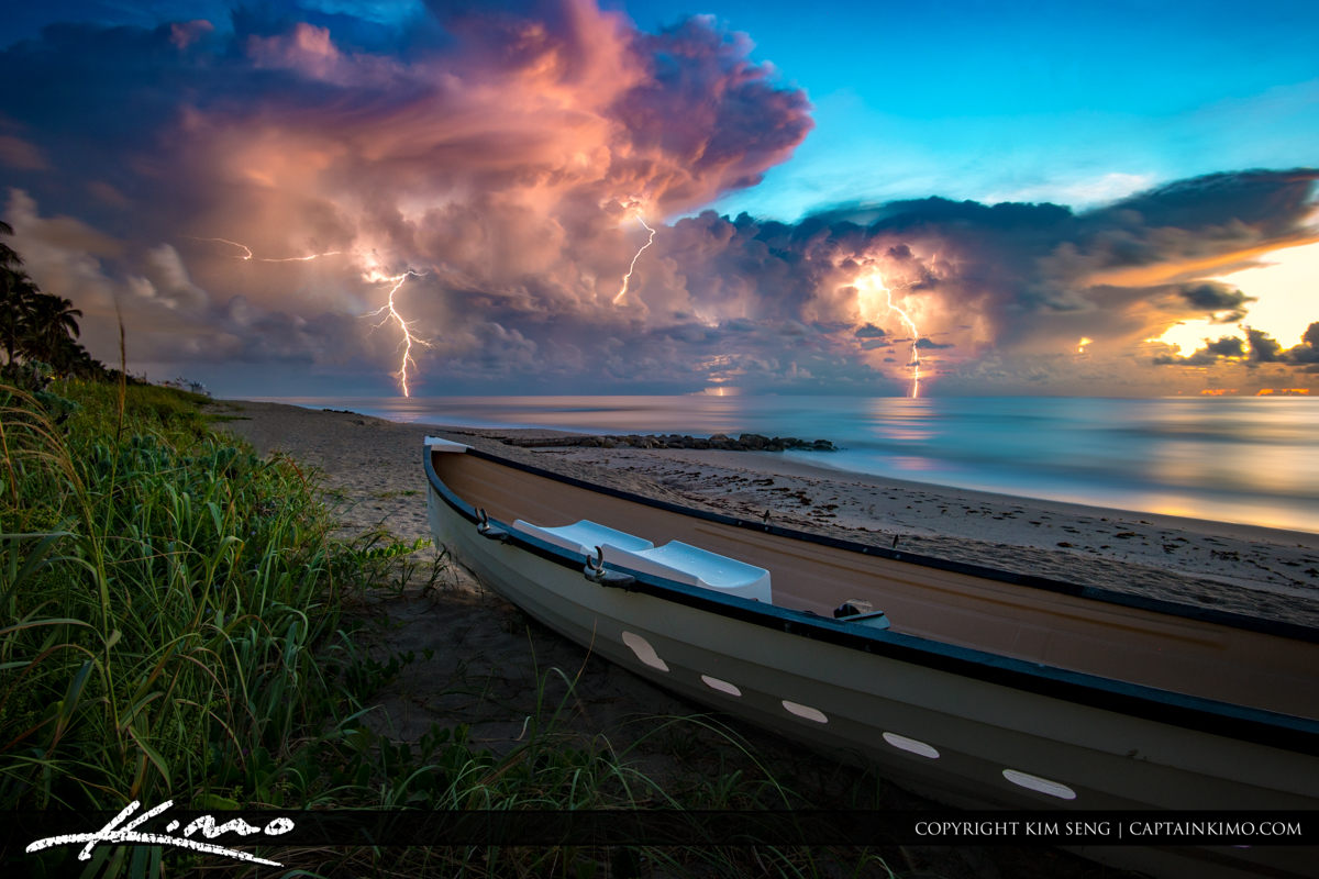 Lightning Storm Lifeguard Boat Palm Beach Island Wide