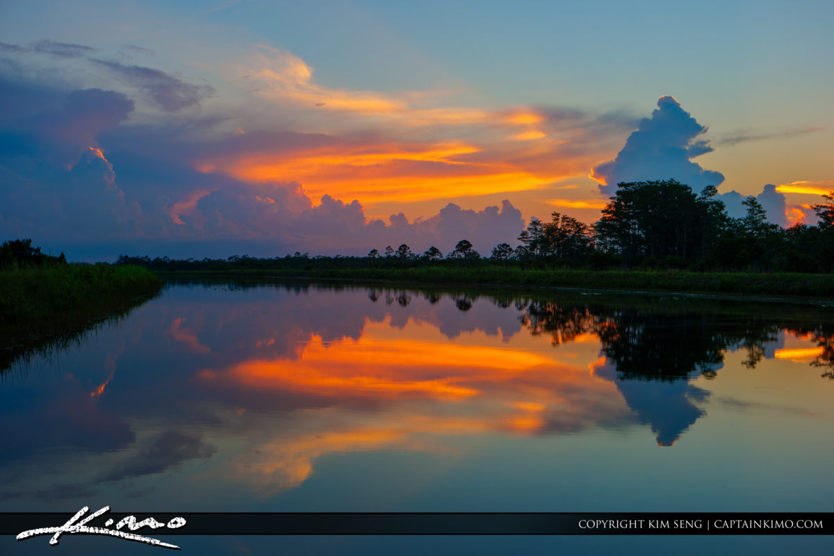Rich Colors Over Hungryland Preserve Florida