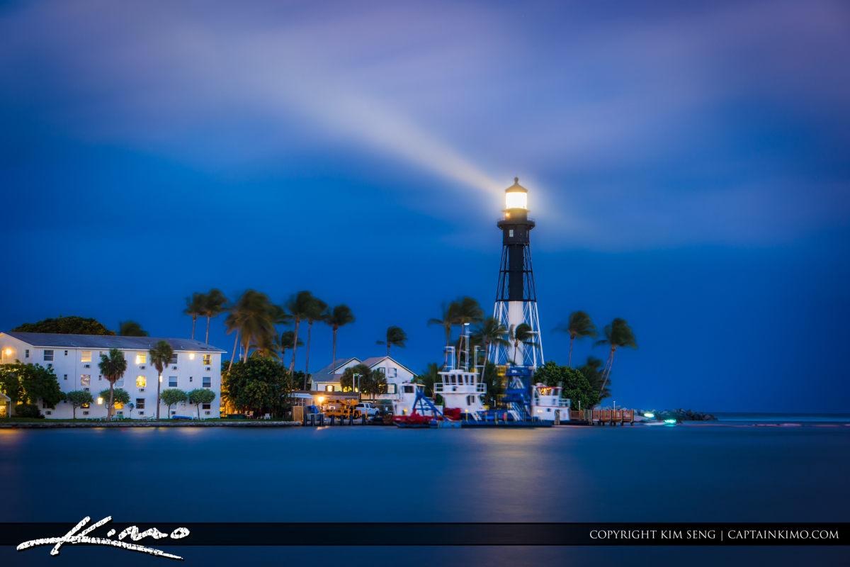 Hillsboro Inlet Lighthouse Long Exposure Aurora HDR Software