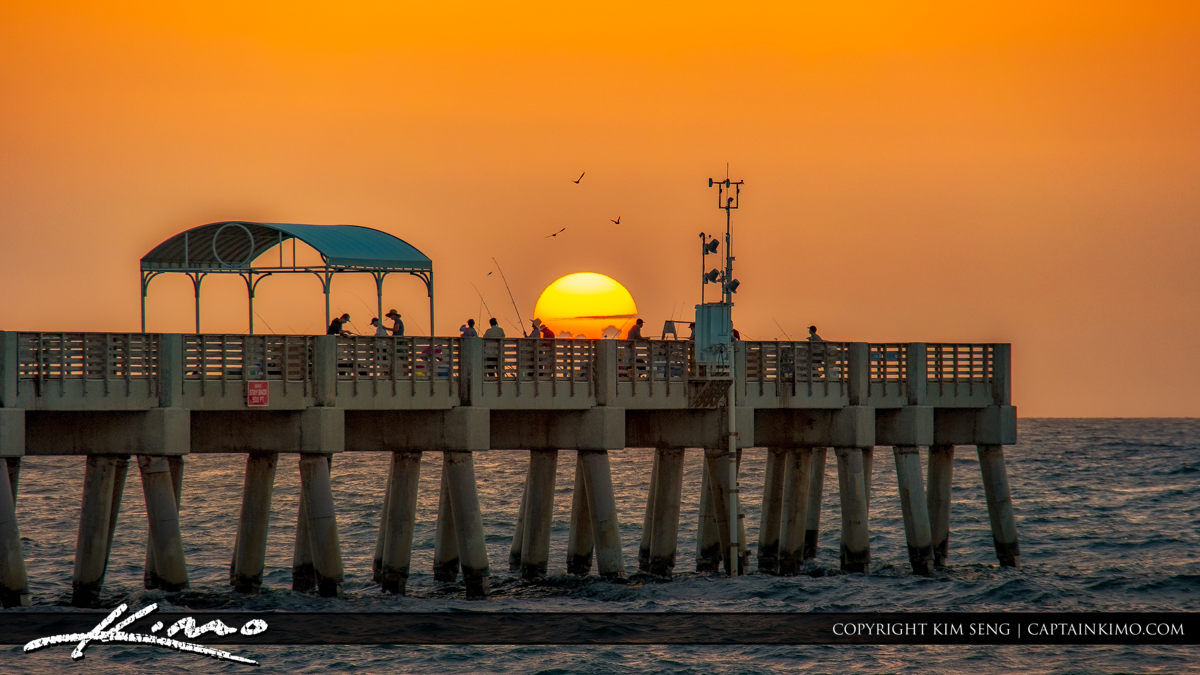 Lake Worth Pier Sunrise Fishing