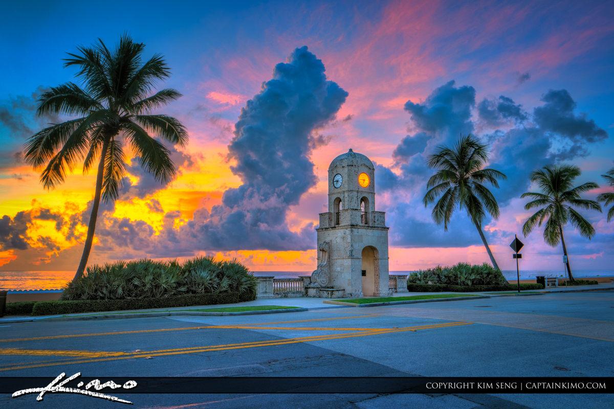 Ocean Boulevard Clock Tower at Worth Avenue Palm Beach