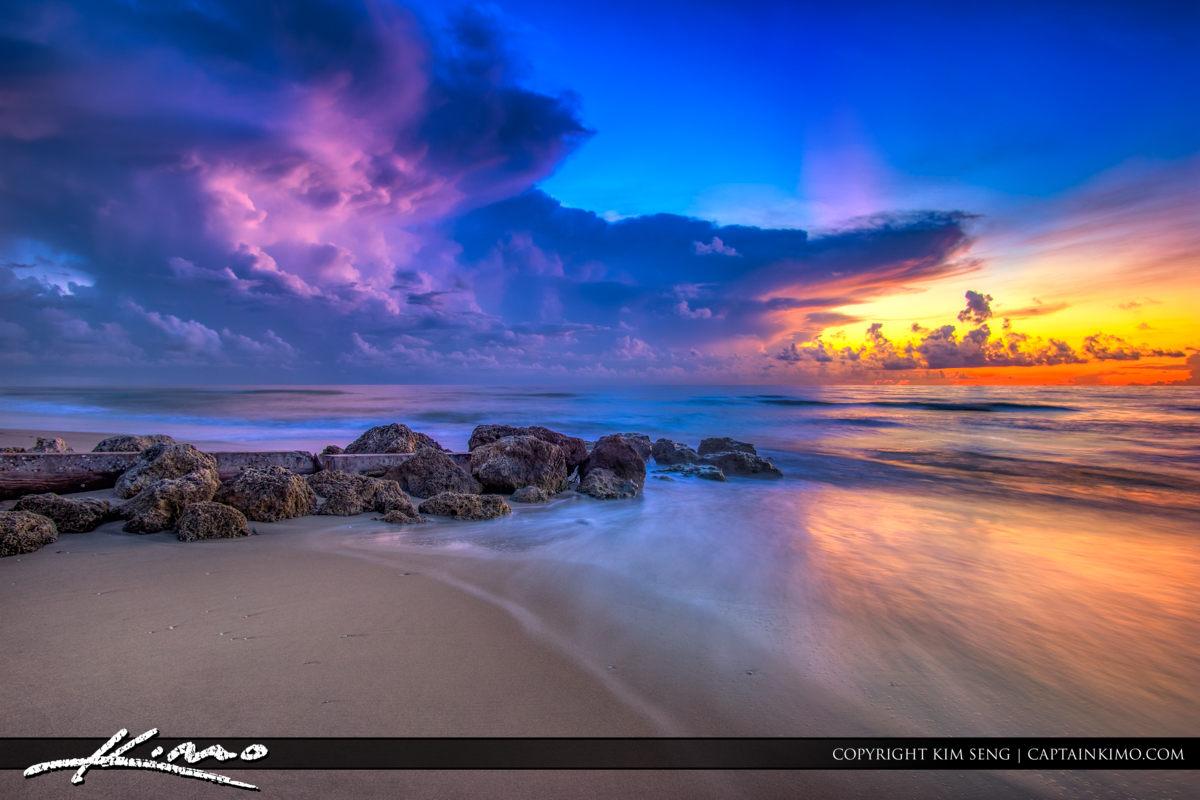Sunrise Palm Beach Island Florida Cloud Colors