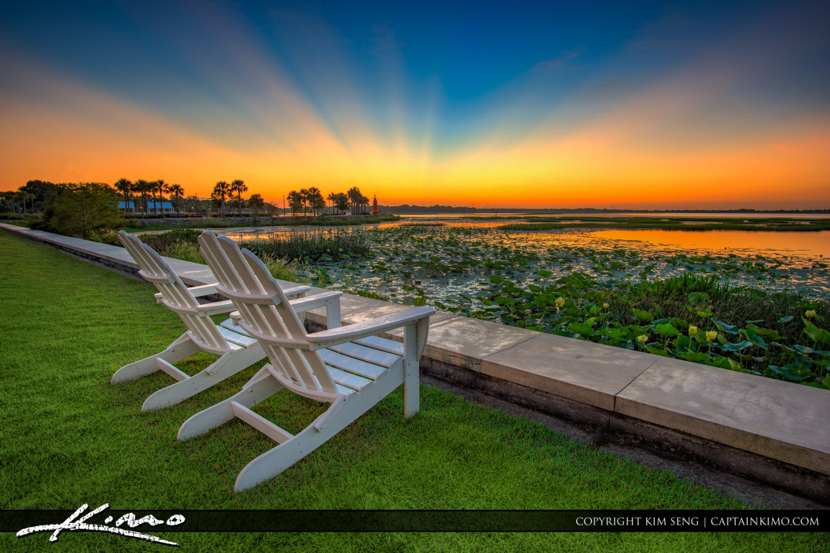 Kissimmee Lakefront Park Sunrise Osceola County