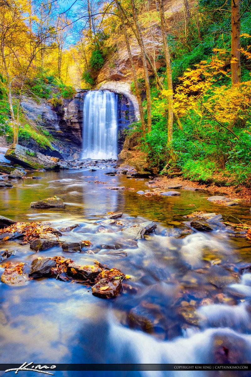 Looking Glass Falls Brevard North Carolina Fall Colors