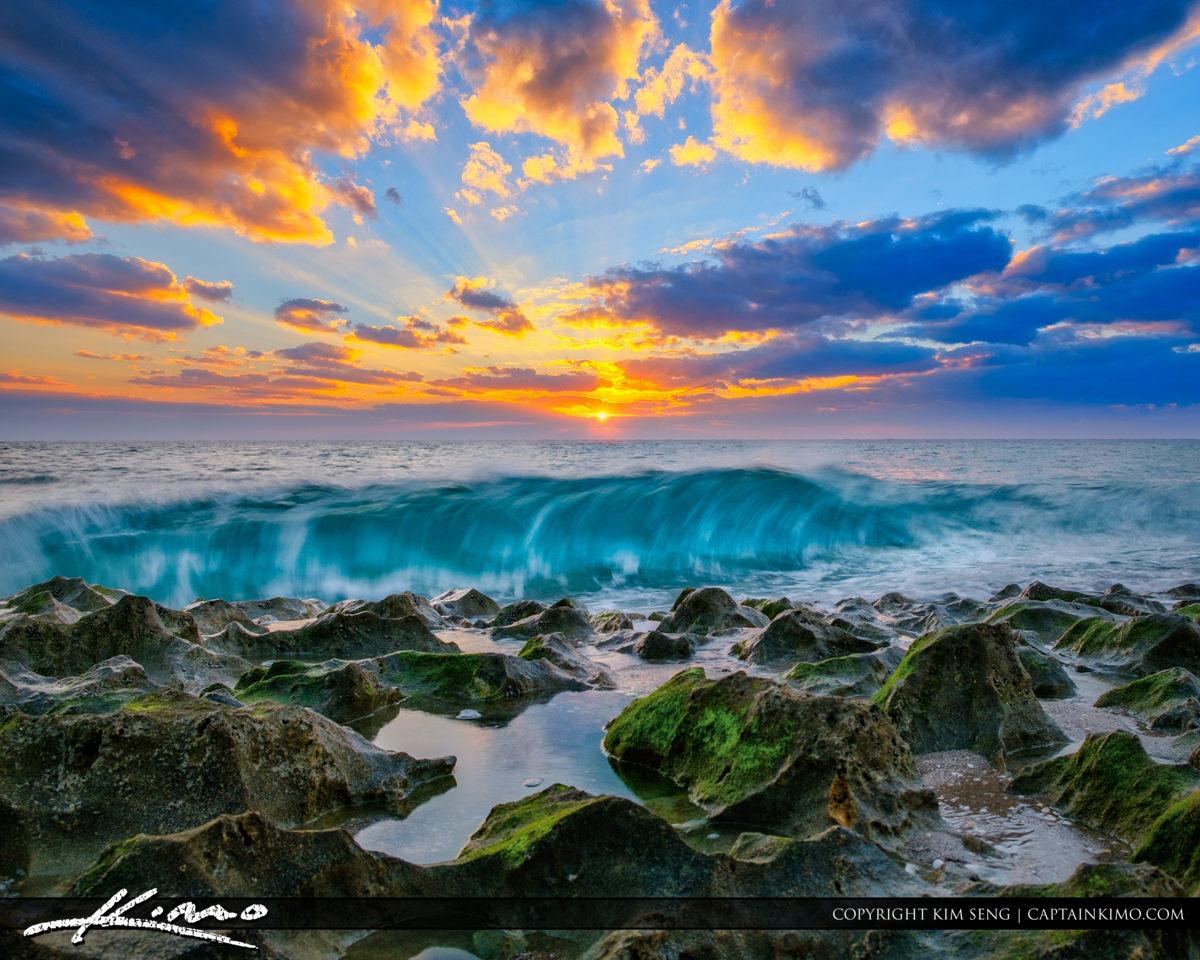 Singer Island Beach Sunrise Wave at Ocean Reef Park