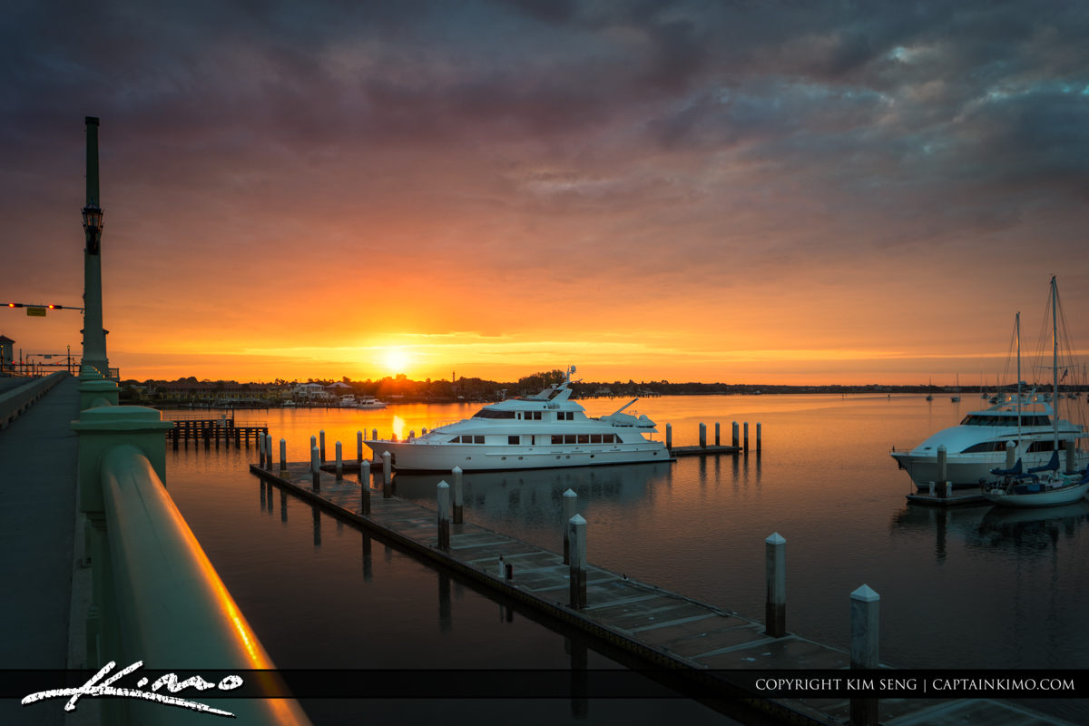 Sunrise Marina at St Augustine Florida with Boats