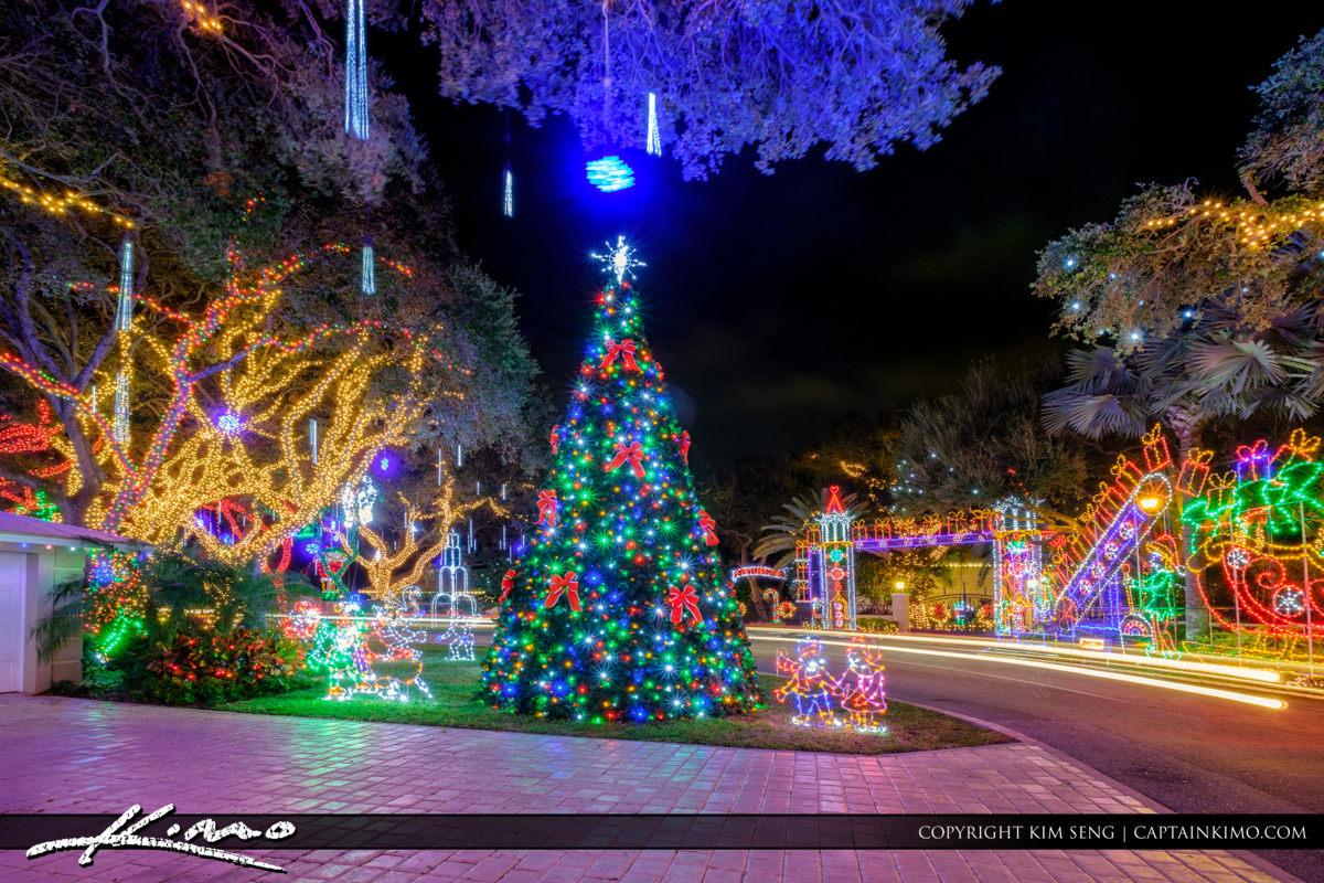 Christmas Tree at the End of Snug Harbor Palm Beach Gardens