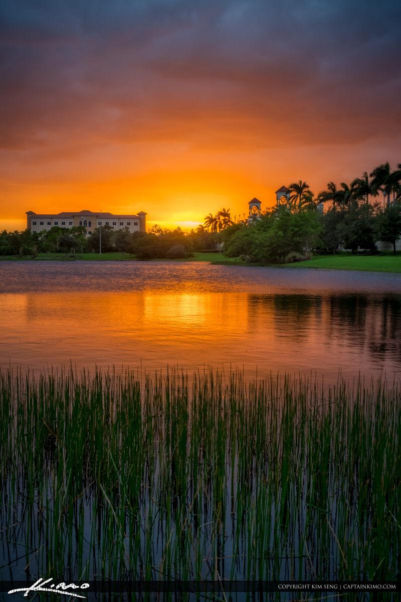 Palm Beach Gardens Sunset at Lake PGA Boulevard
