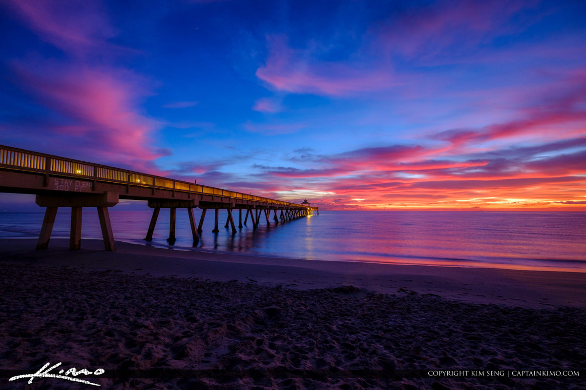 Deerfield Beach International Fishing Pier Sunrise at the Beach