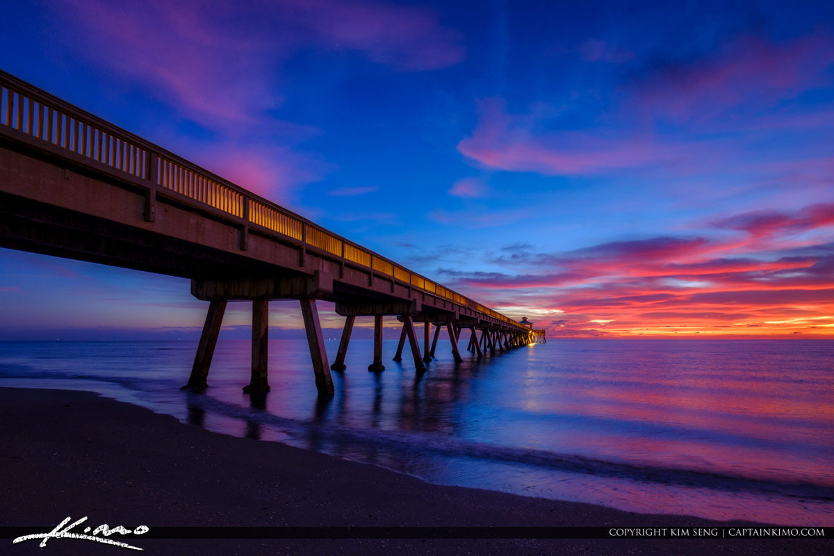 Deerfield Beach International Fishing Pier by the Broward County