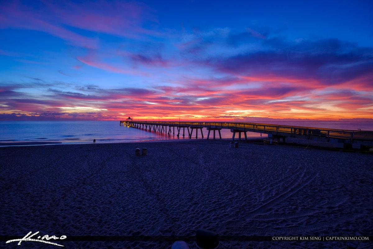 Deerfield Beach International Fishing Pier Watching the Sunrise