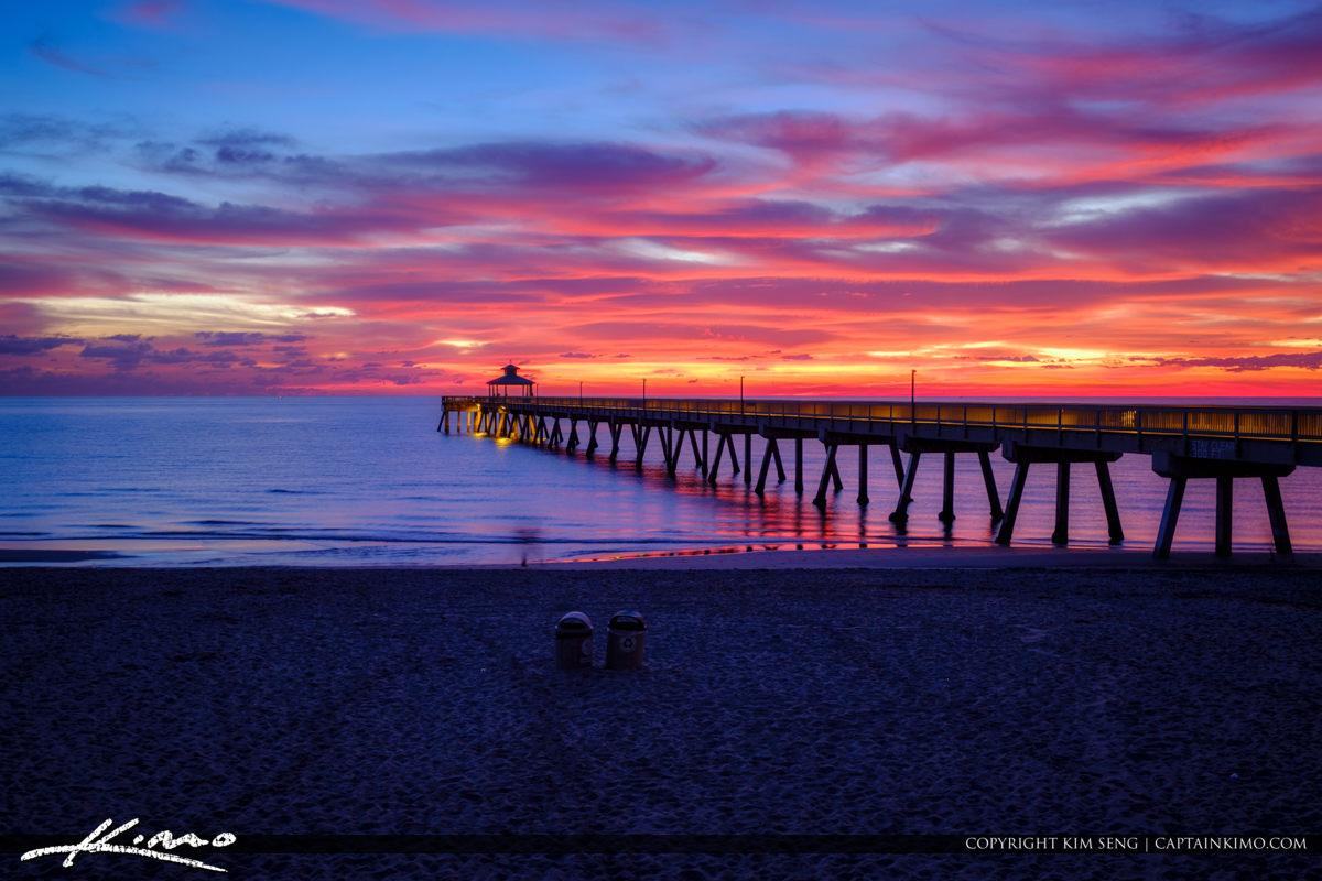 Deerfield Beach International Fishing Pier Sunrise Colors at Bro