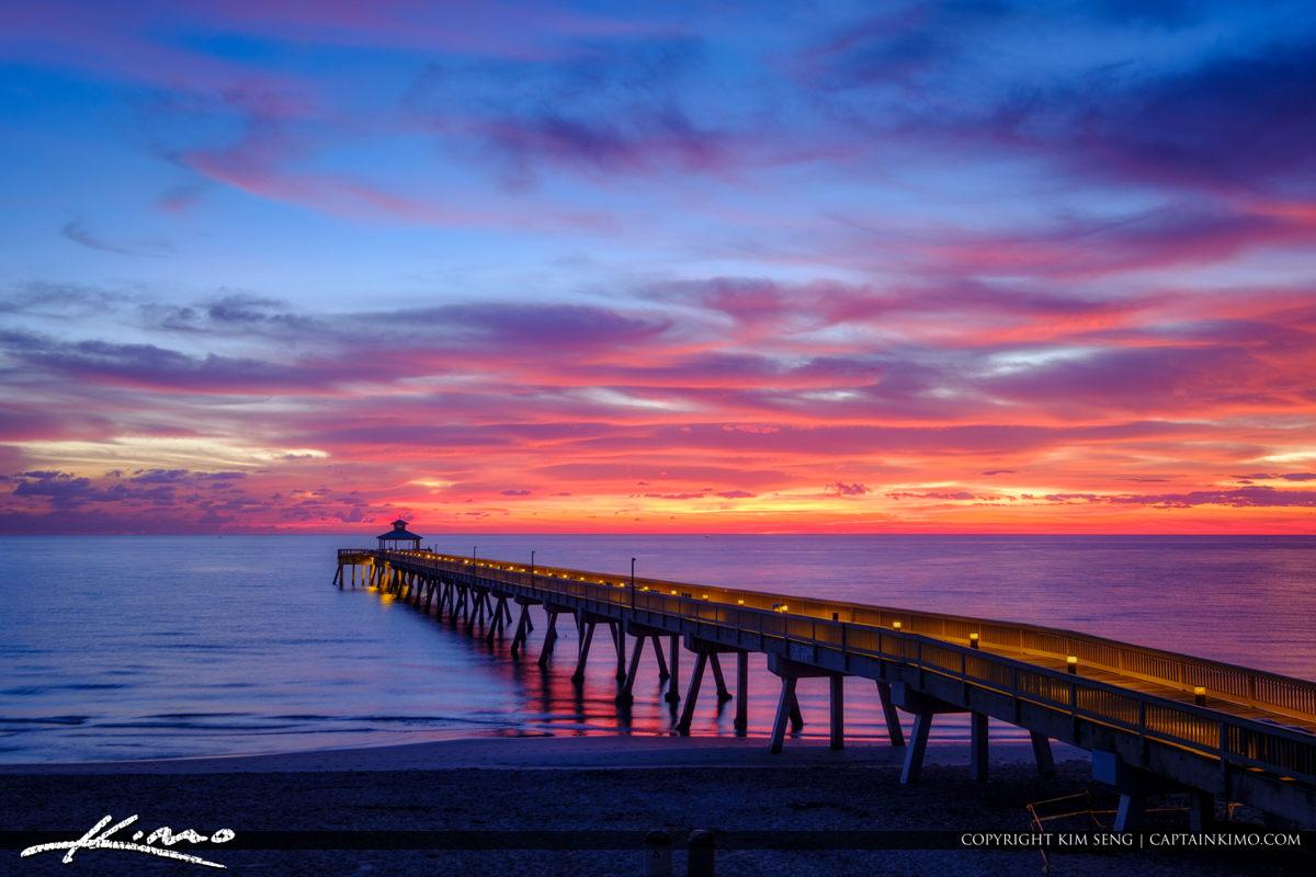 Deerfield Beach International Fishing Pier Beautiful Morning Lig