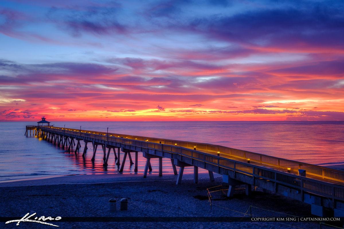 Deerfield Beach International Fishing Pier Amazing Sunrise