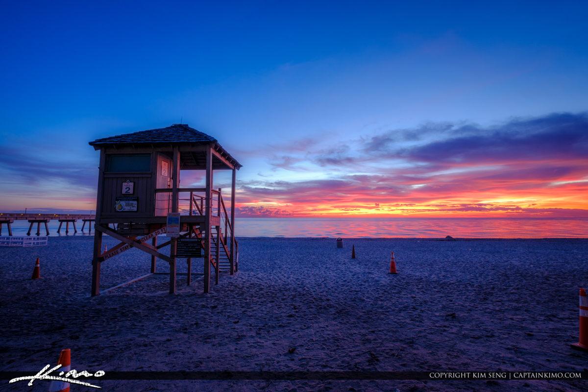 Deerfield Beach International Fishing Pier Lifeguard Tower at Be
