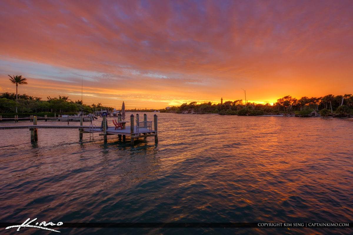 Loxahatchee River Sunset Jupiter Lighthouse and Museum