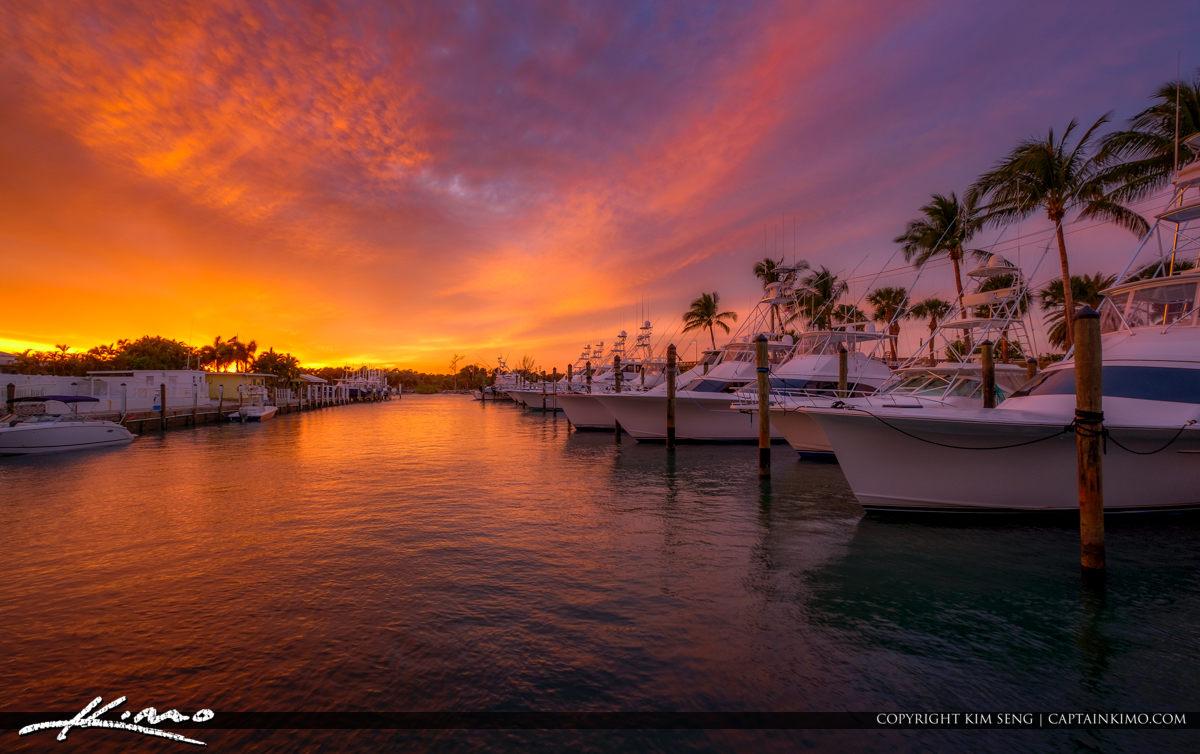 Jupiter Island Florida Boats Docked at the Marina