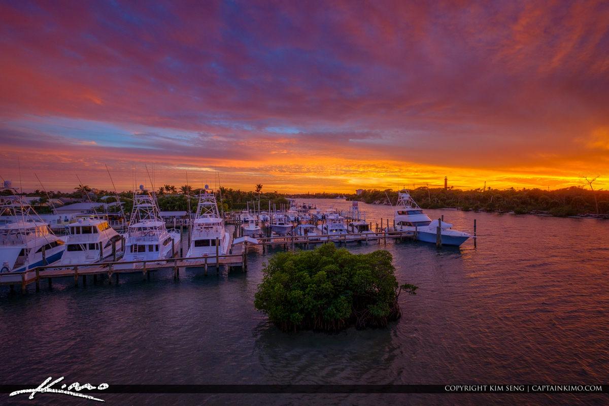Jupiter Florida Sunset from Catos Bridge Loxahatchee River