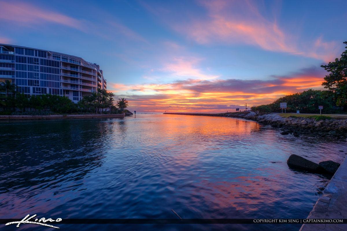 Boca Raton Florida Sunrise South Inlet Park