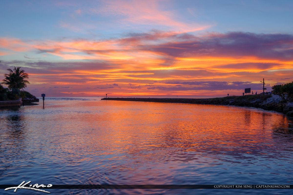 Boca Raton Florida Sunrise at the Boca Inlet