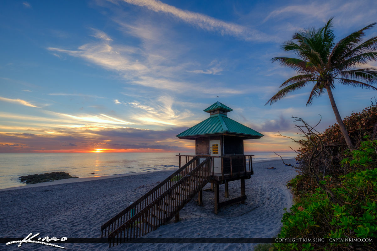Red Reef Park Sunrise at Beach Boca Raton Florida
