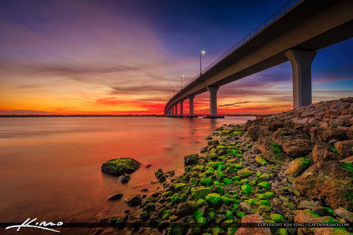Hutchinson Island Causeway Stuart Florida Sunset Okeechobee Waterway
