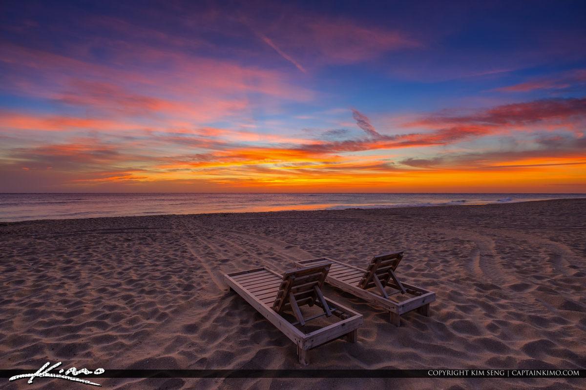 Beach Chair Sunrise South Florida Singer Island Florida