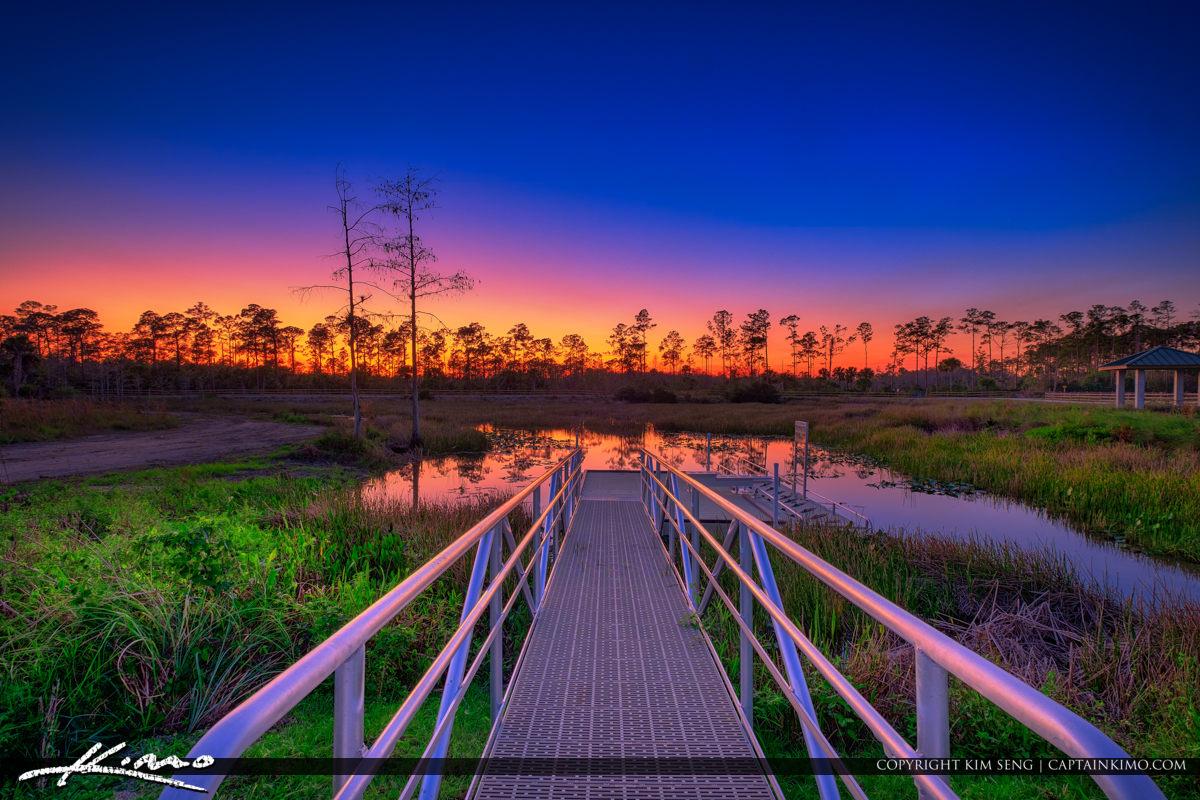 Cypress Creek South Natural Area Sunset Jupiter Florida