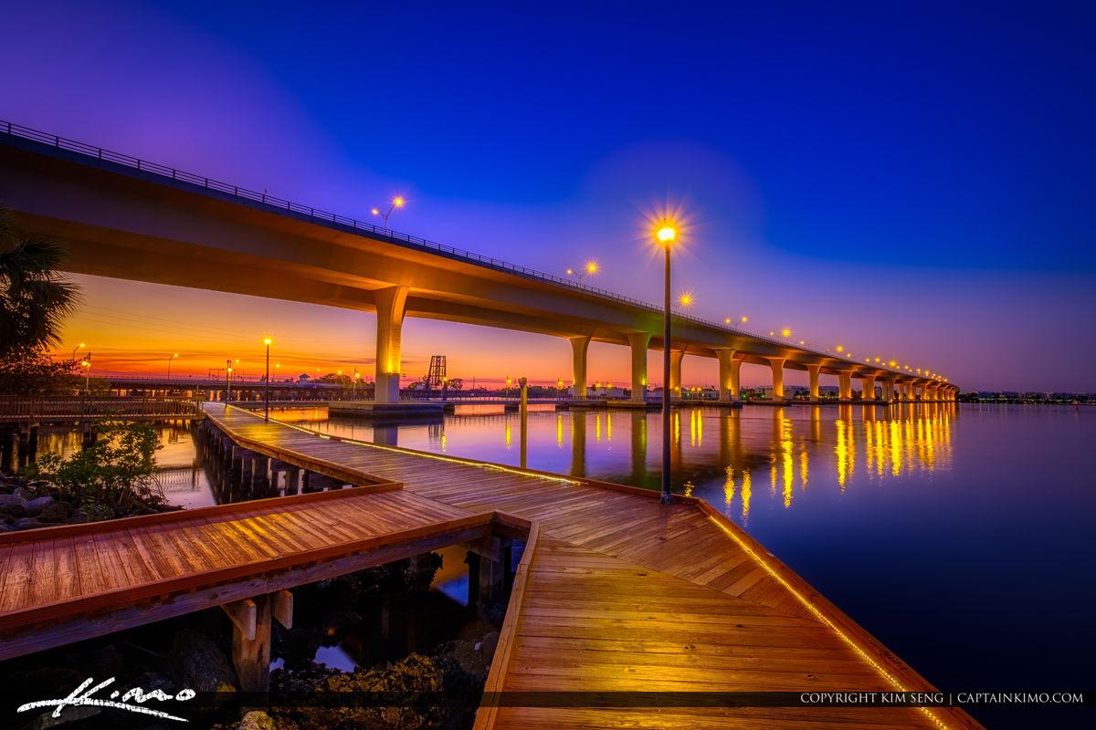 Roosevelt Bridge Boardwalk Run at Riverwalk Park Stuart Florida