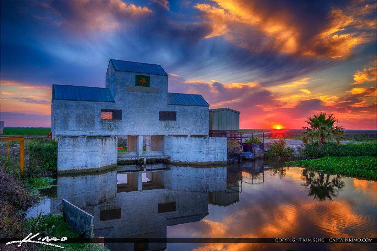 Canal at Sugarcane Farm Palm Beach County Florida