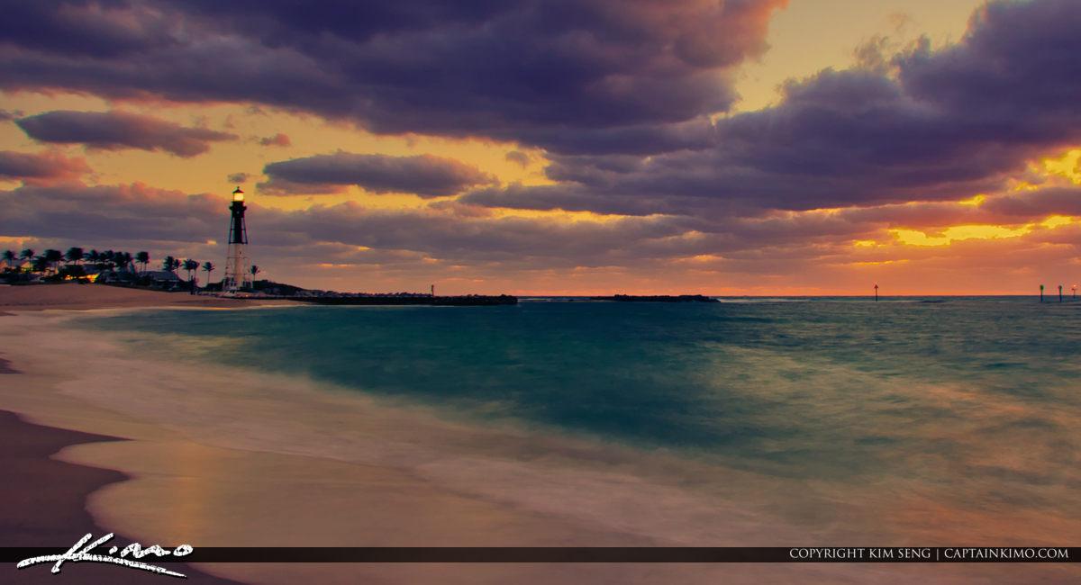 Hillsboro Lighthouse Pompano Beach Inlet Florida Long