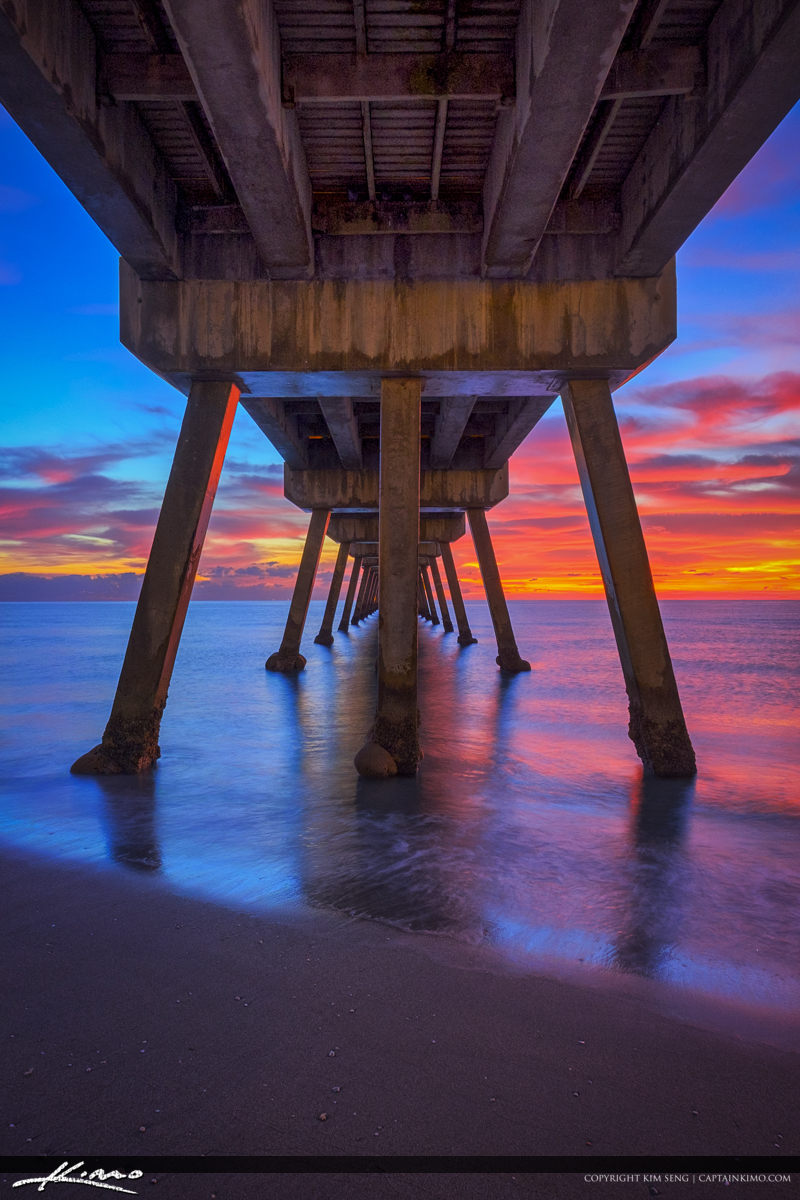 Deerfield Beach Vertical Sunrise Under Pier