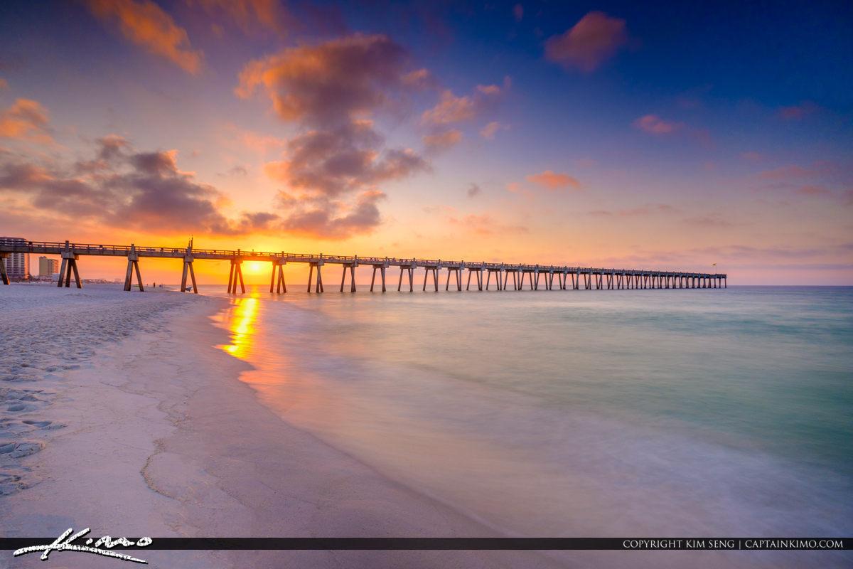 Pensacola Beach Gulf Pier Sunrise from the Emerald Coast