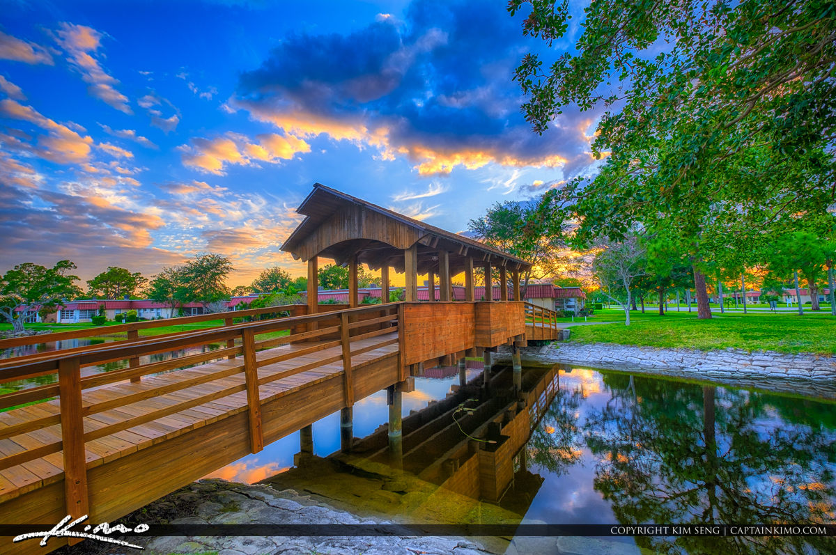 Lake Worth Florida Covered Bridge