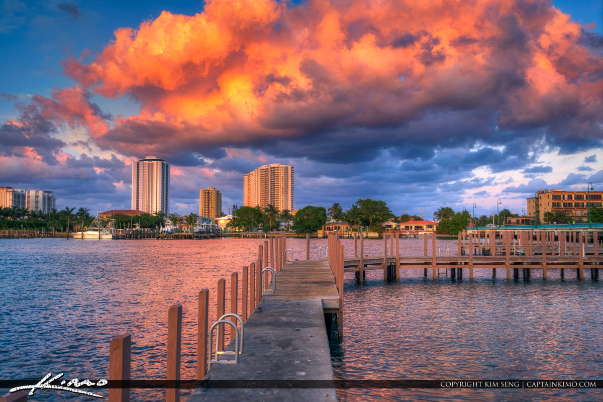 Singer Island Pink Clouds Over Condo