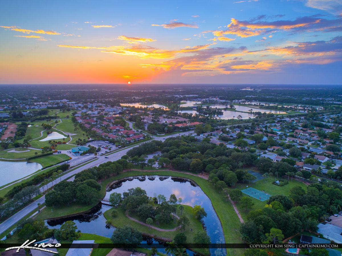Jupiter Florida Aerial Over Homes in Jupiter